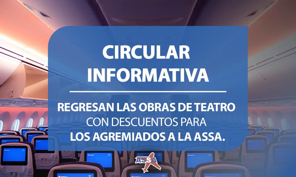 Circular Informativa Obras de teatro
