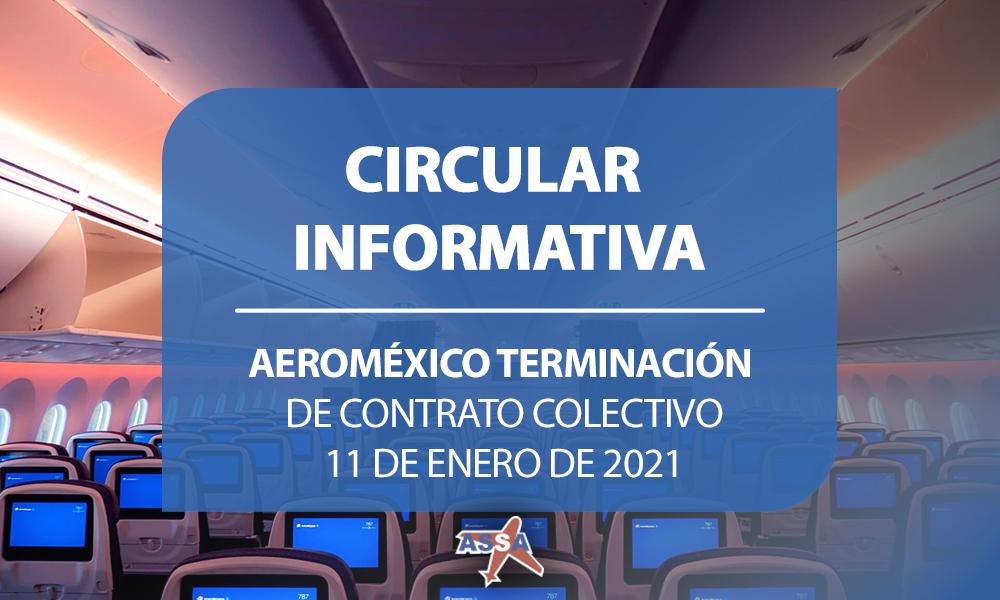 Aeromexico terminación de contrato colectivo