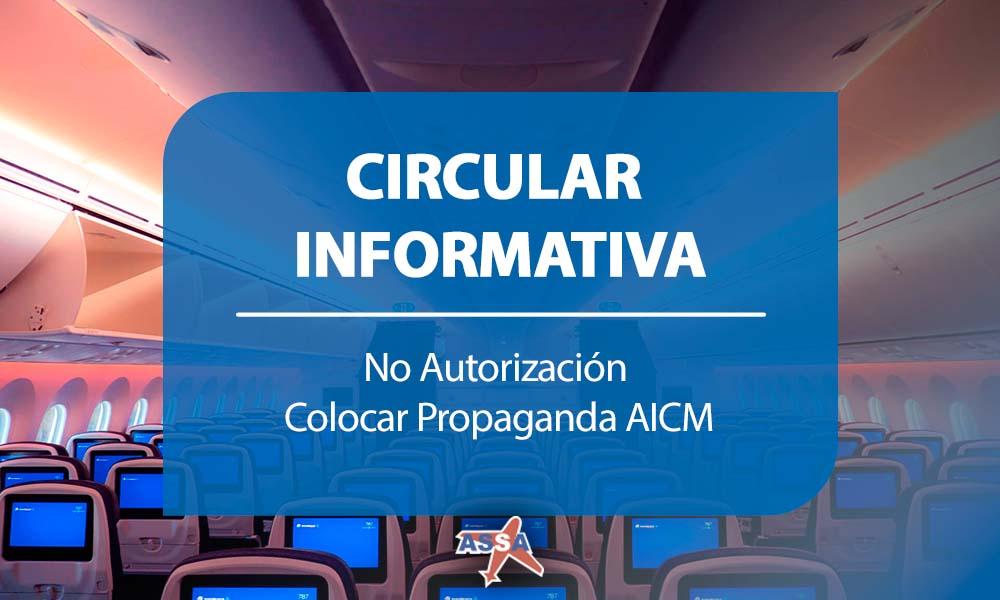 No Autorización Colocar Propaganda AICM